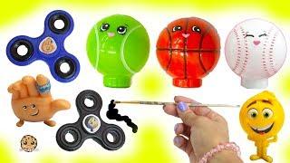 DIY The Emoji Movie Fidget Spinners, Inspired Shopkins Night Ligts - Dollar Tree Craft Video