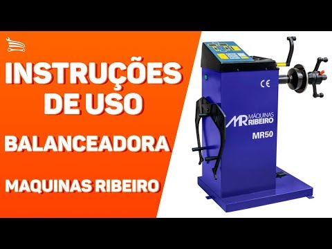 Balanceadora Manual de Rodas  Azul de 10 a 24Pol.  220V - Video
