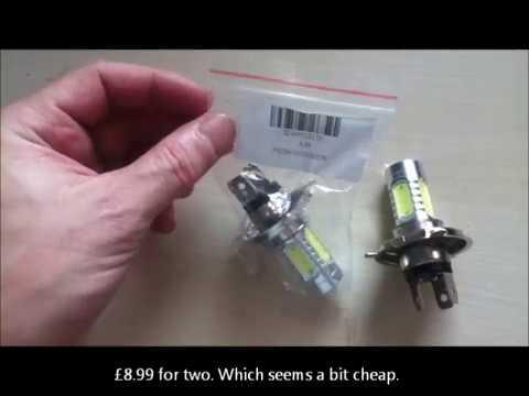BMW K75  Motorcycle - Halogen vs LED Bulbs