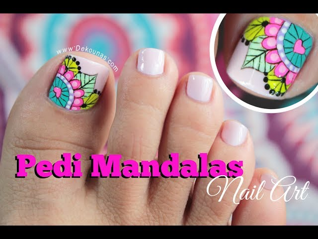 Video Diseño De Uñas Pies Mandalas Mandala Toenail Art