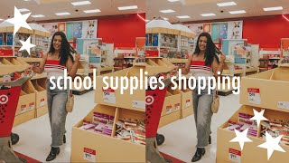 college school supplies shopping