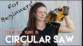How To Use A Circular Saw For Beginners— Power Tools Made Easy #3