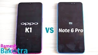 Oppo K1 vs Redmi Note 6 Pro SpeedTest and Camera Comparison