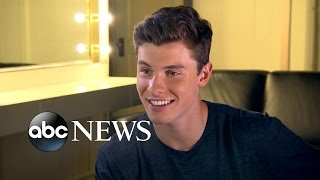 Shawn Mendes Backstage on Nightline | ABC News
