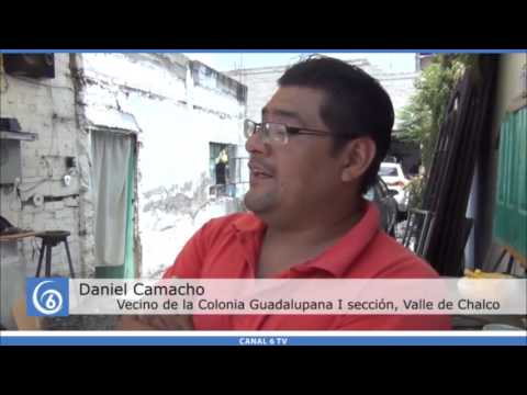 Problemas de coladeras sin tapa en avenidas de Valle de Chalco