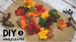 DIY. 🍁Part 4. Handmade Maple Leaves. Autumn Accessory. Осенние кленовые листья из фоамирана.