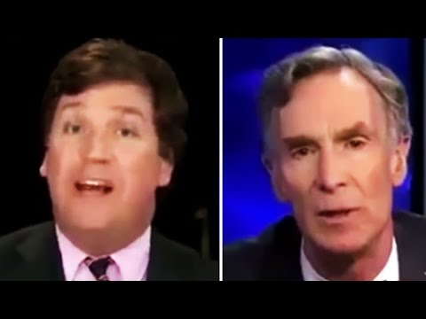 Tucker Carlson Screams at Bill Nye the Science Guy for Answering His Climate Change Question