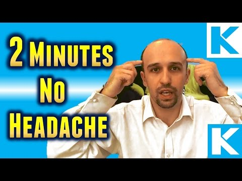 Video How To Get Rid Of Headache Or Migraine In 2 Minutes Or Less
