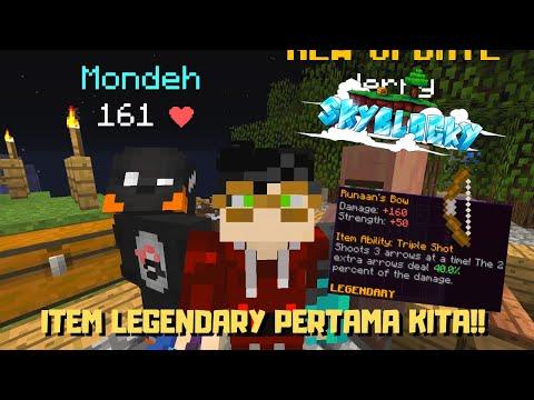 RUNAAN'S BOW!! PANAH LEGENDARY PERTAMA KITA   Minecraft SkyBlock Indonesia