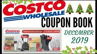 🎄DECEMBER 2019 COSTCO COUPON BOOK 💵 COSTCO MEMBER ONLY SAVINGS DEALS 2019 ● 11/25/19 - 12/24/19