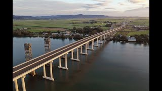 Harwood Bridge project presentation. Geotech investigation being undertaken