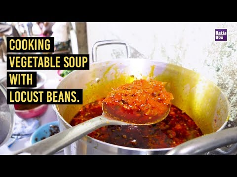 Cooking Vegetable Soup with Locust Beans