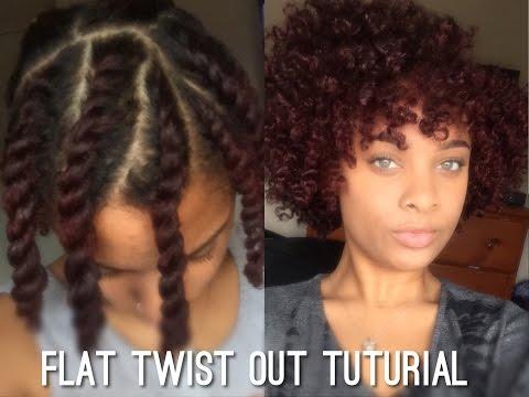 Flat Twist Out on Short/Medium Length Natural Hair