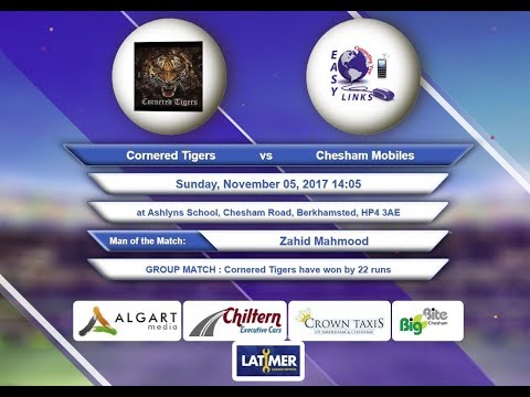 Video Cornered Tigers VS Chesham Mobiles - 05-Nov-2017