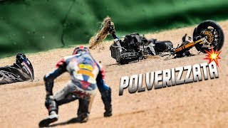 BREAKING A BIKE IN 3 BY FALLING AT 260KM/H... A RACING STORY 2019 EP.12 - MISANO ROUND 4