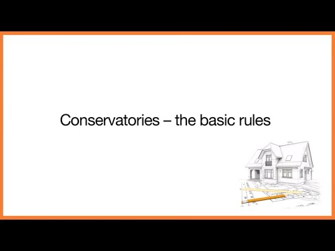 Building Control: Conservatories Basic Rules