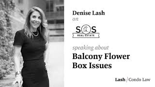 Denise Talks about Balcony Flower Boxes