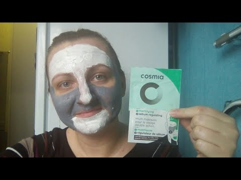 Тестируют маску из Ашана COSMIA Multi-masques pour me visage double action/ Мультимаскинг/