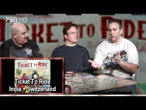 The Gamers' Table Episode 78 in HD: Ticket To Ride: India + Switzerland