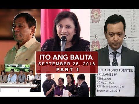 [UNTV]  UNTV: Ito Ang Balita (September 26, 2018) PART 1