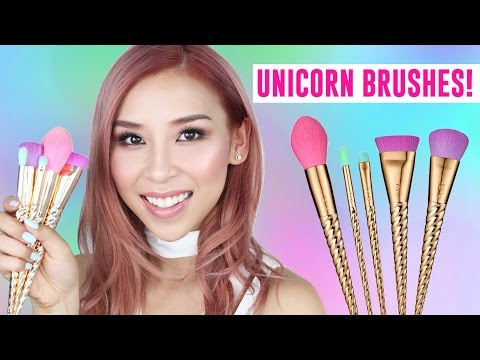 New Unicorn Brushes- TINA TRIES IT