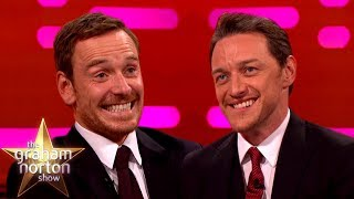 Michael Fassbender & James McAvoy Love Smacking Each Other | The Graham Norton Show