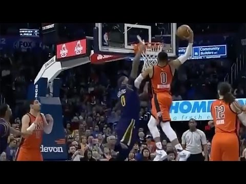 Russell Westbrook POSTERIZES DeMarcus Cousins, Boogie Gets 18th Technical