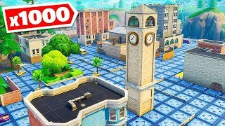 *1000* BOUNCE PADS vs Tilted Towers in Fortnite Battle Royale!
