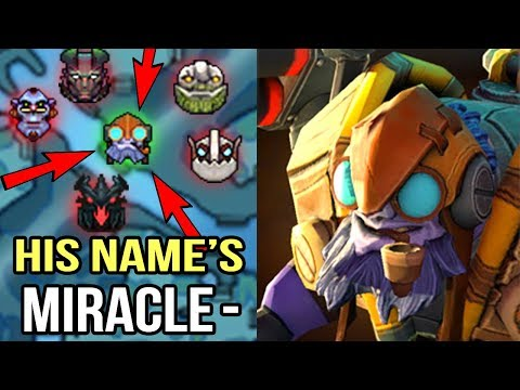 CRAZY FAST HAND Miracle- Tinker Feed to God Non Stop Gang Mid Epic Comeback WTF Dota 2