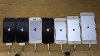 iPhone 6 Plus vs. 6 vs. 5S vs. 5C vs. 5 vs. 4S vs. 4 - Which Is Faster (4K)