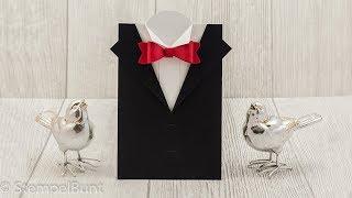 ANLEITUNG - Black&White Anzug/Frack-Karte mit Stampin'Up!®