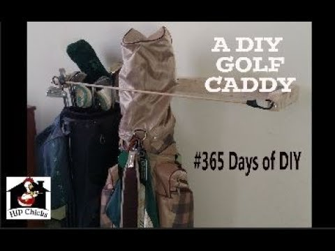 365 Days of DIY - A DIY golf bag caddy