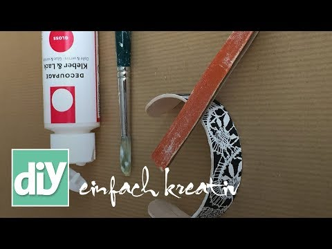Armreifen aus Holzstäbchen   DIY einfach kreativ