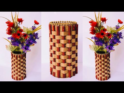 DIY Easy Paper Flower Vase | How To Make a Flower Vase at Home  | Home Decor  | #38 |