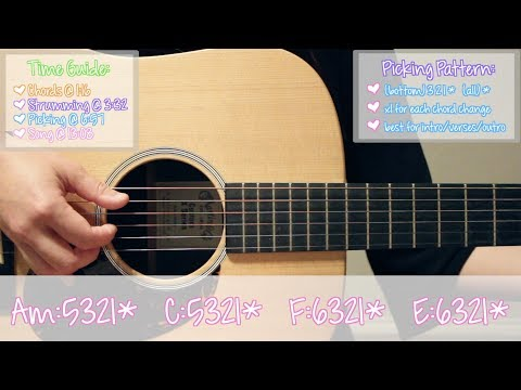 friends    marshmello   anne marie easy guitar tutorial  chords strumming picking cover   no capo