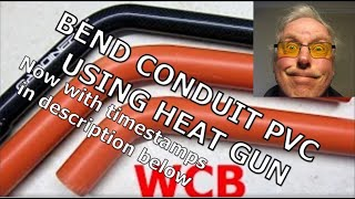 BEND CONDUIT PVC QUICK USING HEAT GUN + PLUS SPRING THAT'S IT.