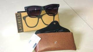 Laurels Urbane UV Protected Wayfarer Unisex Sunglasses Model-Ls-Urb-020202 Unboxing