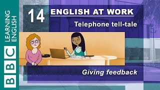 Giving feedback – 14 – English at Work shows you how