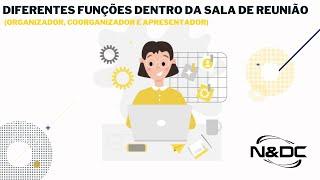 Diferentes funções dentro da sala de reunião Cisco Webex
