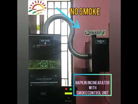 Sanitary Napkin Incinerator With Smoke Control Unit