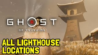 Ghost Of Tsushima All Lighthouse Locations (Light The Way Trophy Guide)