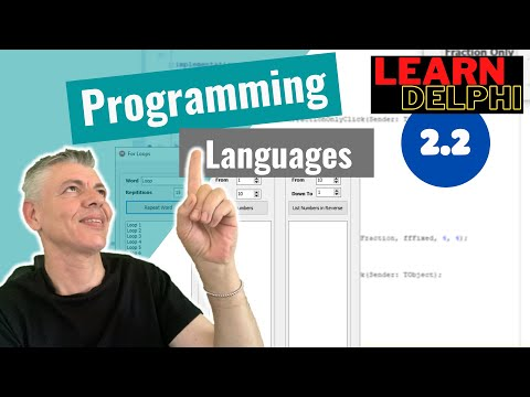 Delphi Programming Tutorial – Unit 2.2 – Programming Languages