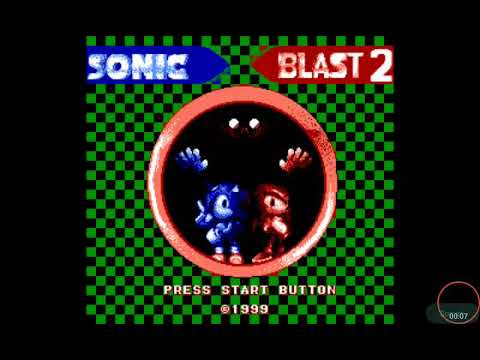 Sonic Blast Game Gear - Title Screen (Hummer Team Style)