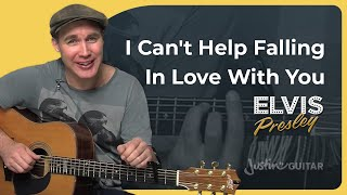 How to play Can't Help Falling In Love With You by Elvis (Beginner Easy Song Guitar Lesson BS-605)