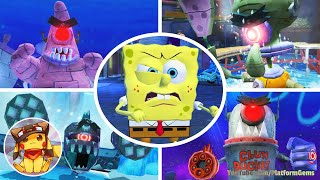 All Boss Fights & Final Boss - SpongeBob's Truth or Square [1080p]
