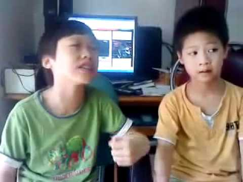 Hai nhóc tì kute hát Tell me goodbye -BigBang cực vui nhộn