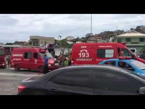 Atropelamento na RJ-140, na altura do posto Estrela Dalva, em São Pedro da Aldeia