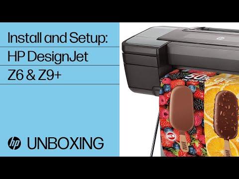 How to Install HP DesignJet Z6 & Z9+ printer series | HP DesignJet | HP