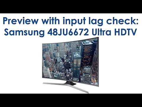 Samsung 48JU6672 (JU6600) preview with input lag check