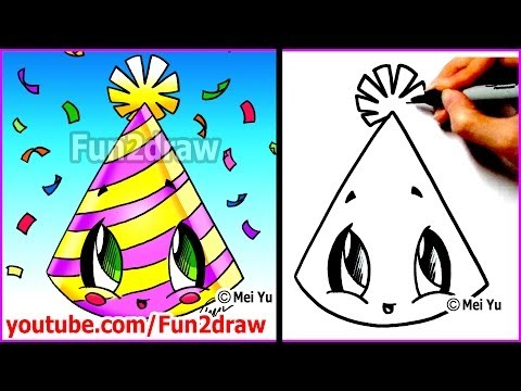 Fun2draw New Years Party Hat | *Fun2draw Stars* by The ...